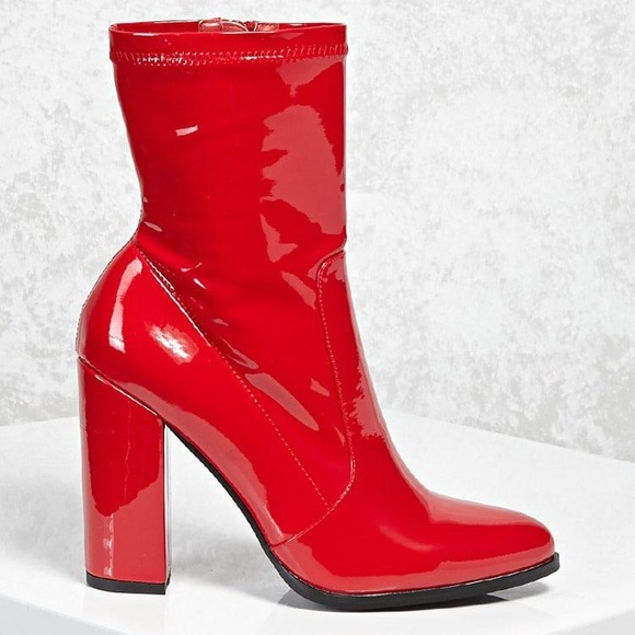 ea6024e092e78 Forever 21 Shoes - Rare sold out red patent booties forever 21 size 7